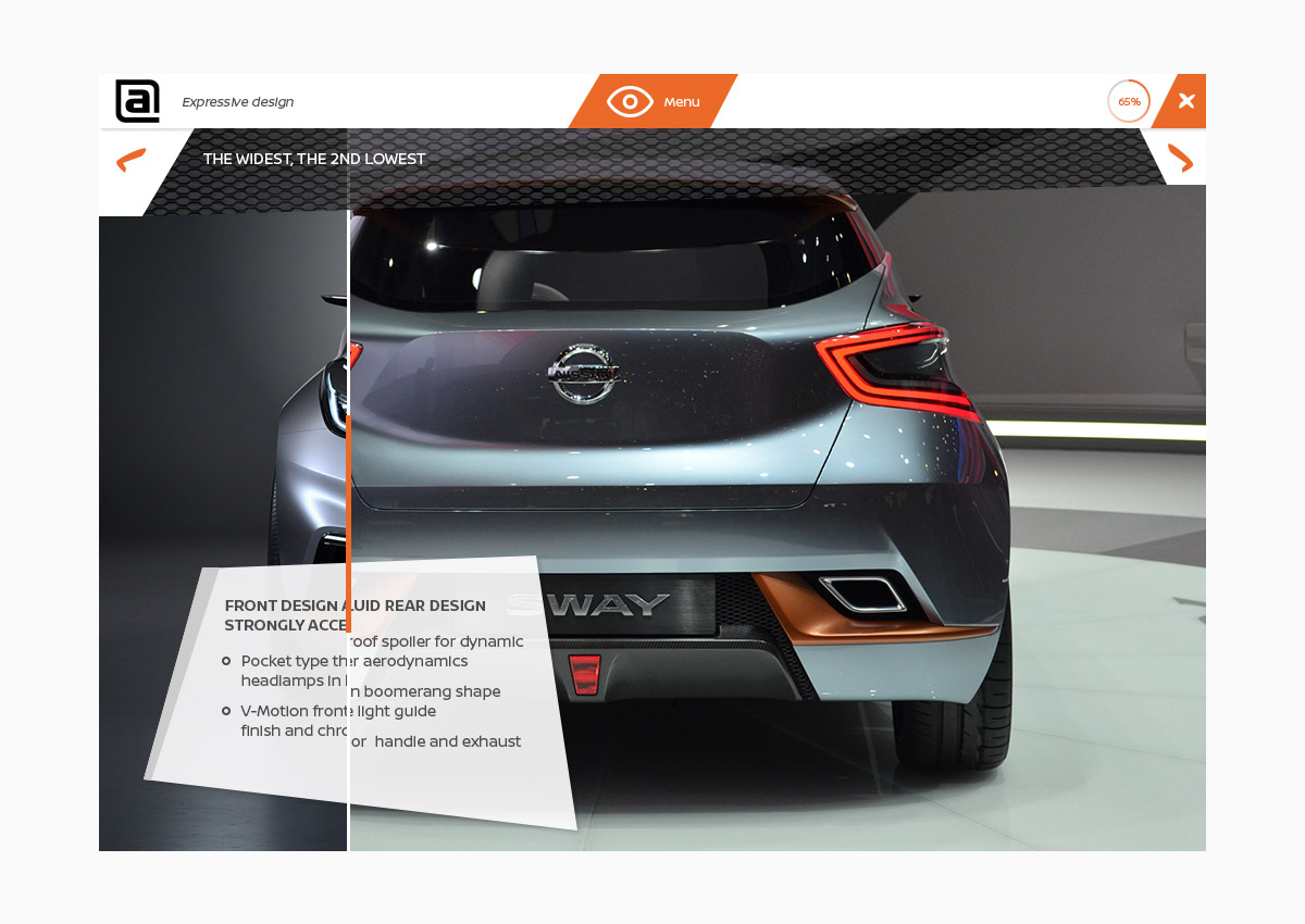 nissan slide to reveal