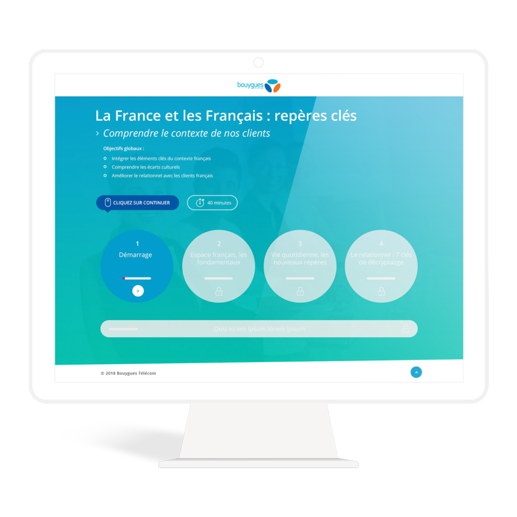 webdesign elearning module bouygues telecom