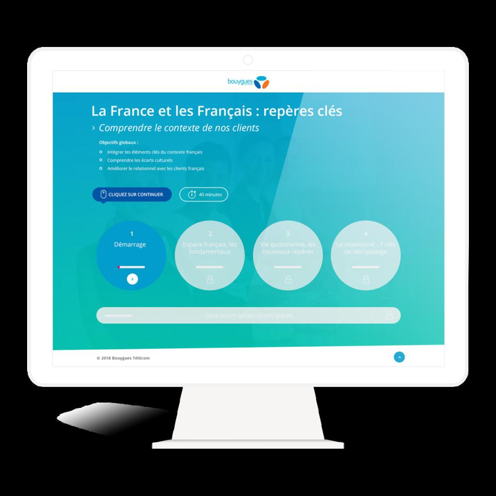webdesign elearning module bouygues telecom