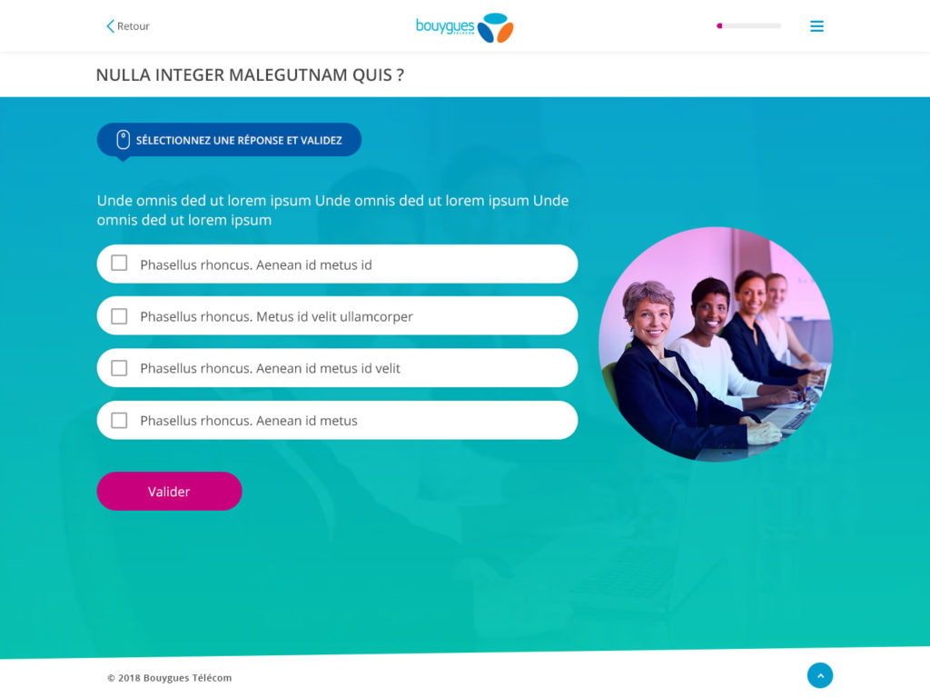 webdesign elearning quiz step 1