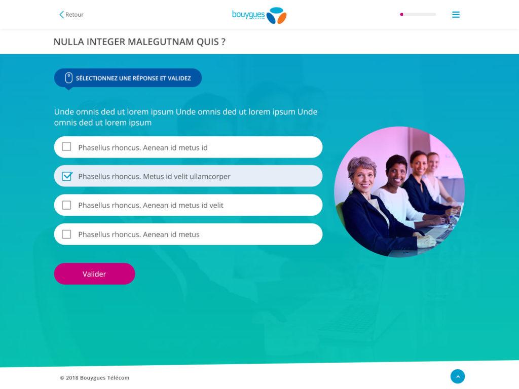 webdesign elearning quiz step 3