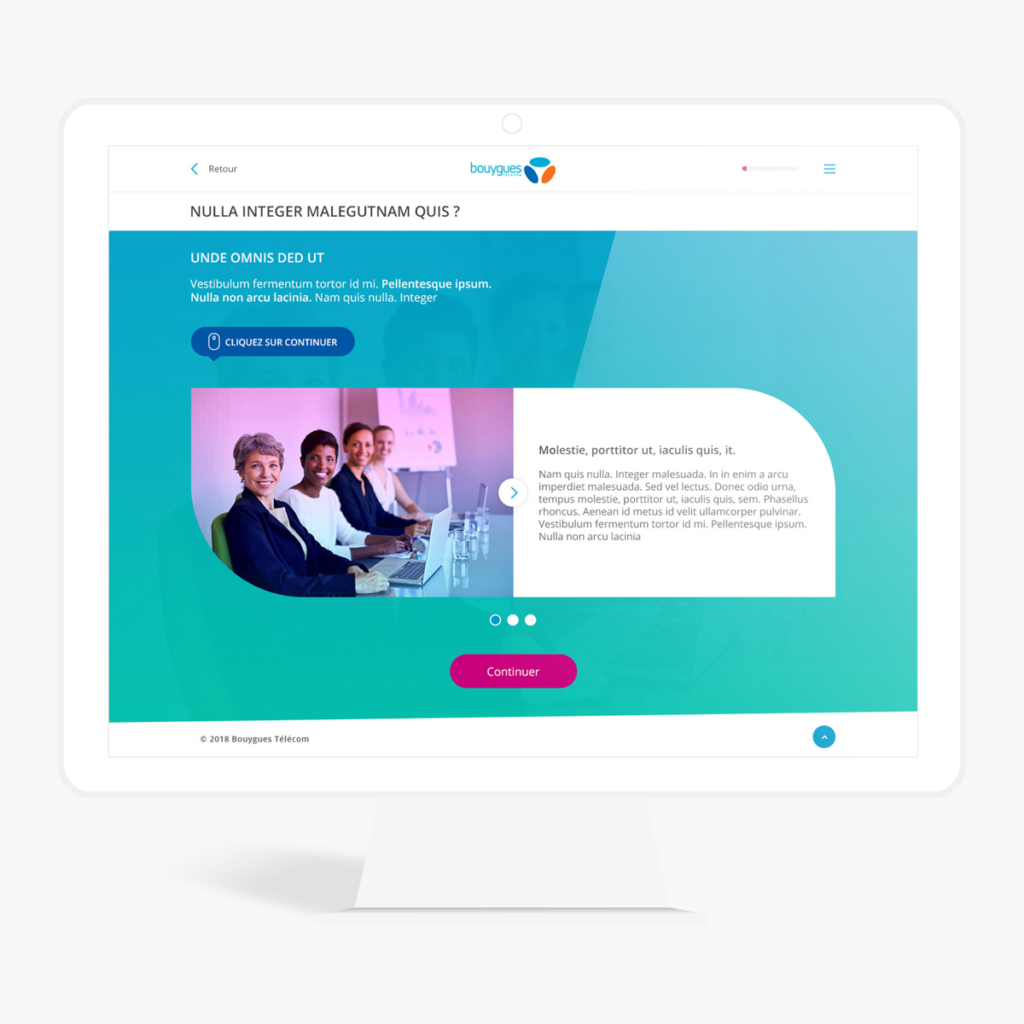 webdesign elearning slideshow bouygues telecom
